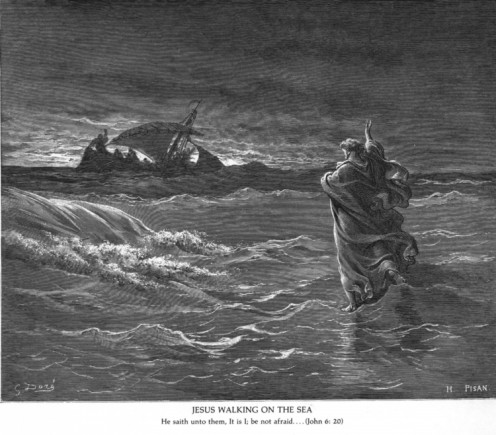 Jesus Walking on the Sea, Gustave Dor (1832-1883)