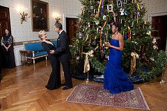 Christmas in the White House. What a gala event. Man, I wish I could just take the president and first lady a present such as a gift certificate from Walmart for $100.00.