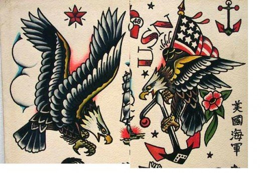 American Bald Eagle | Free Tattoo Designs The image is also beautiful and versatile, and can be tattooed both