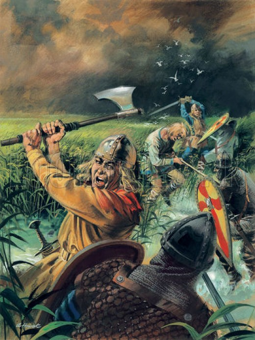 Hereward with his followers laying into the Norman besiegers at Ely