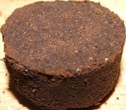 The used coffee cake