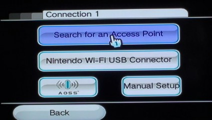 "Click ""Search for an Access Point."""