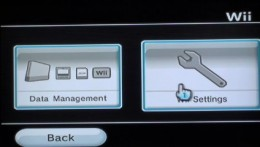 "Select ""Wii Settings."""