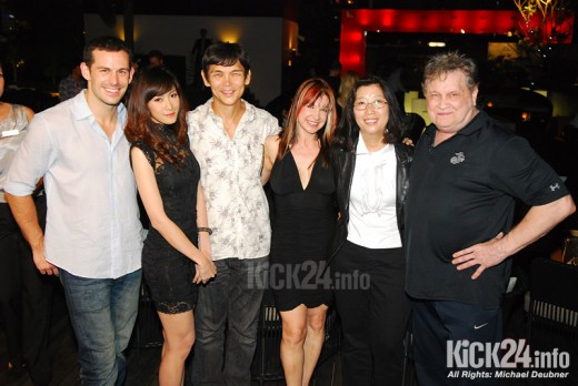 VIP party in Bangkok: Matt Mullins, Yui, Don Wilson, Cynthia Rothrock, Karen Kaing and Joe Lewis (from left to right)