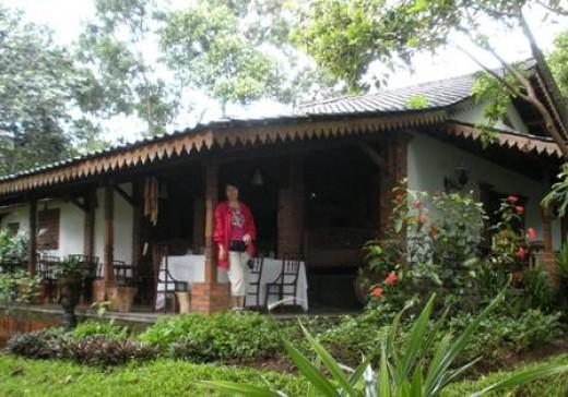 Restaurant in Yayasan Kaliandra Sejati.