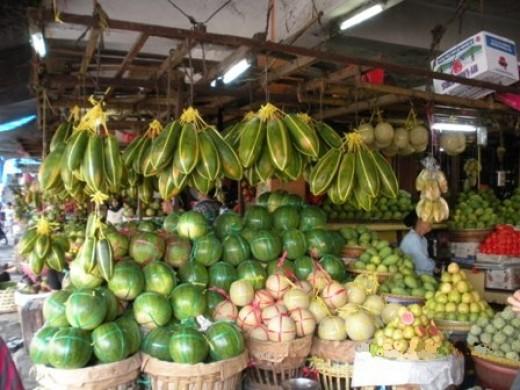 fruit stall.