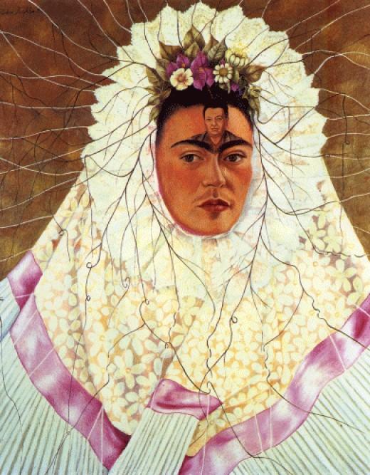 Autorretrato Como Tehuana o Diego en mi Pensamiento, 1943.