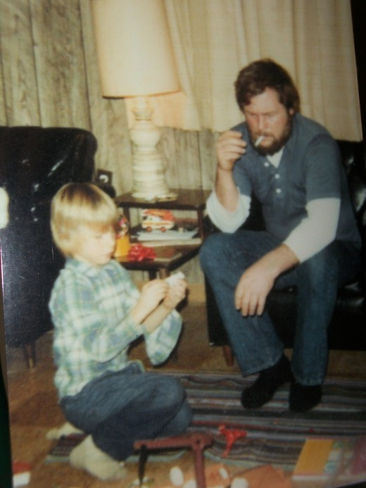 a picture of Dylan and his father