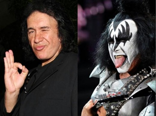 Gene Simmons - in and out of make up