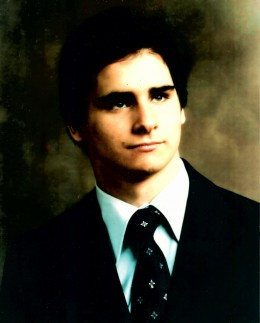 David's senior picture taken three months before he died.  This appeared the 1979 Yearbook with a poem attached by his best friend.