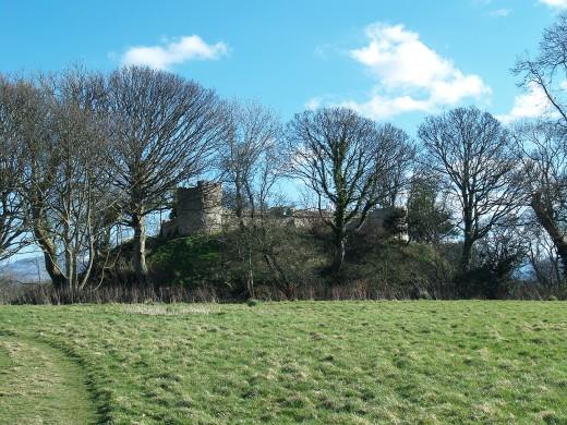 Hugh de Avranche's Aberlleiniog Castle, almost lost amongst the trees