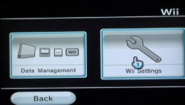 "Select ""Wii Settings"" from the Wii Options menu."