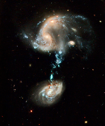 Hubble image of Arp 194 from the bad astronomer  Source: flickr.com