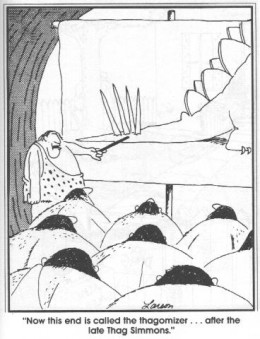 1982 Far Side comic strip by Gary Larson