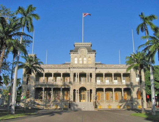 'Iolani Palace, Honolulu, Hawaii.