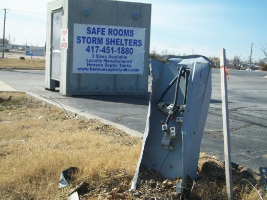 Storm shelters have become a booming business.  The overall rebuilding plan includes some public storm shelters.