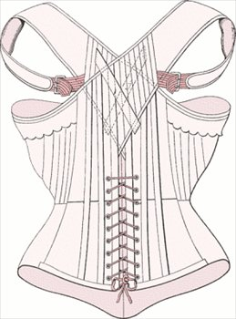 Though originally figure shaping undergarments, corsets are now worn as fashion statements. They key to their shaping is in the boning.