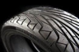 Example of Tread on a Directional Tire