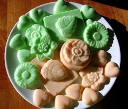 bath melts from a mold