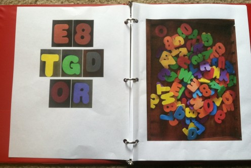 A pile of foam letters makes a great look and find activity.