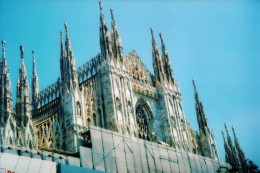 Photo of some of the Gothic spires on the Duomo Cathedral.