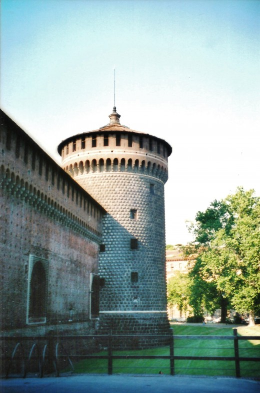 Castello Sforzesco in Milan, Italy
