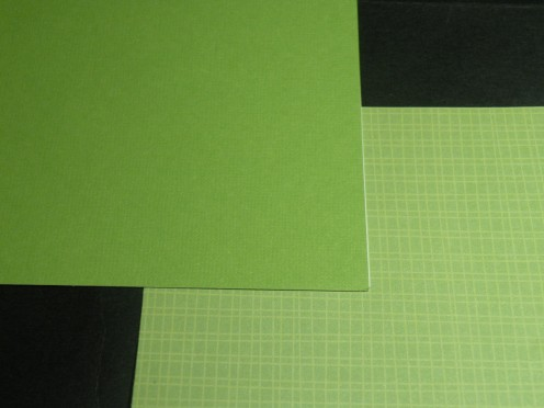 Card and background cardstock