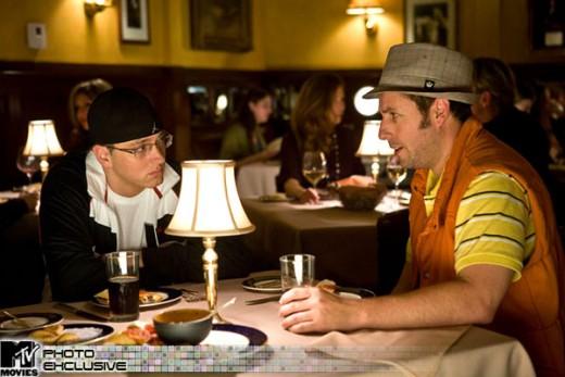George talks with Eminem.