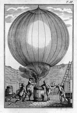 Descrizione delle esperienze della macchina aerostatica dei Signori di Montgolfier. Traduzione dal Francese, Venice, Graziosi, 1784