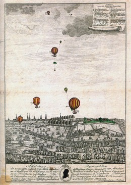 Balloon flight above Hamburg - 1786