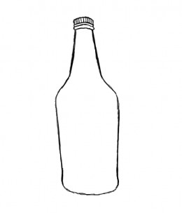 how to draw a pill bottle step by step