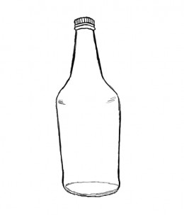 Drawing water bottle pictures to pin on pinterest