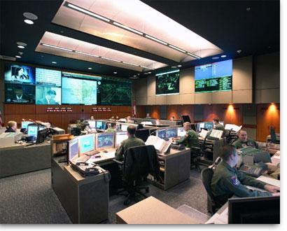 The interior of a Fusion Center