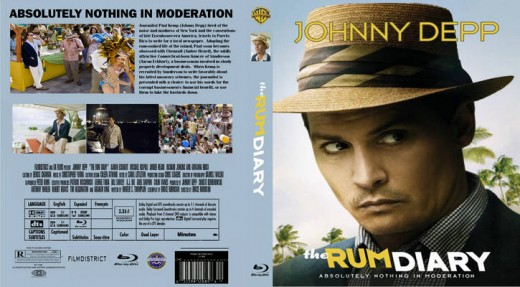 The Rum Diary Blu-ray DVD Cover