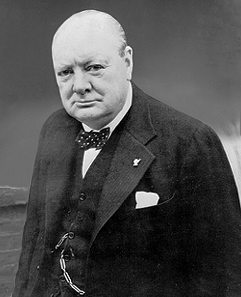 British Wartime Prime Minister Winston Churchill