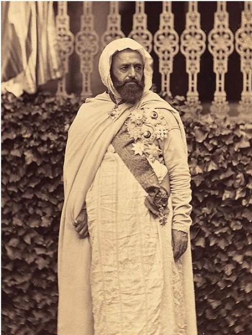 1865 portrait of Emir Abd el-Kader