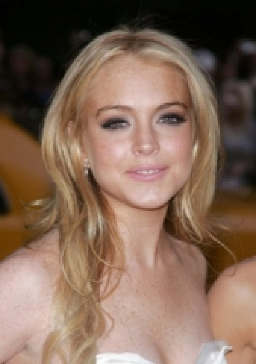 PRETTY MISS LINDSAY LOHAN, MOVIE STAR AND FREQUENT VISITOR TO REHAB. JUST ONCE, I'D LOVE TO SEE A STORY ABOUT HER BEING CLEAN AND SOBER.