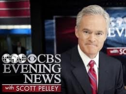 SCOTT PELLEY CBS EVENING NEWS COULD MAKE A FEW ERRORS AND BE POPULAR.