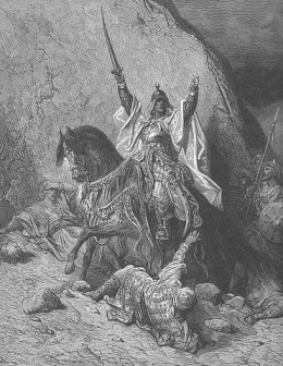 19th century depiction of a victorious Saladin