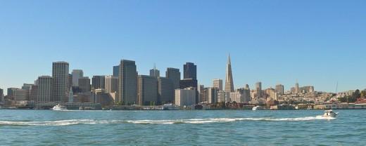 San Francisco waterfront from Treasure Island