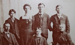 The Frank Cadore family.  My grandfather Oscar is standing at the right.