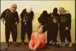 Liberals seem overly concerned about the rights of those who would exterminate us and want to try terrorist's in civilian courts. This a photo of those misunderstood jihadists murdering a young American.