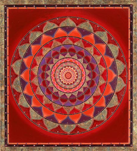Mandala from art therapy