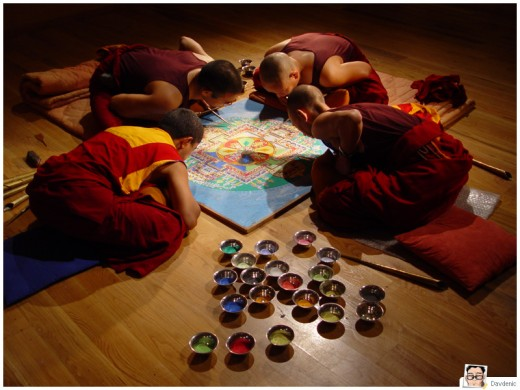 Tibetan sand painting Mandala
