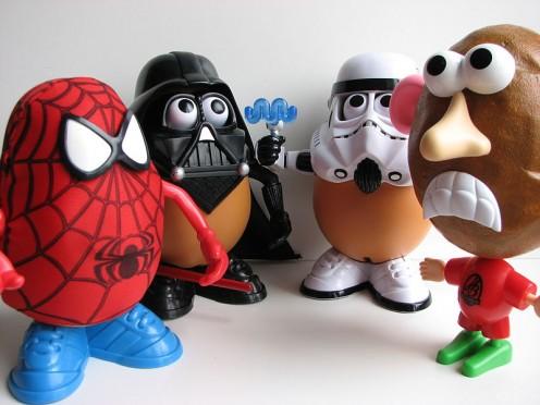 Mr. Potato Head and friends.