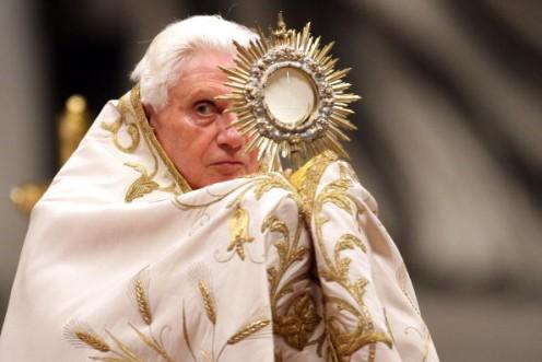 Pope Benedict XVI with Sun Blaze