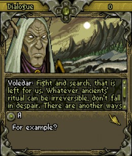 Voledar: he ordered to let orcs into the heart of the forest.  He later couldn't bear this guilt and decided to stay to fight and die.