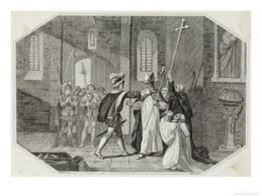 Arrest of Odo by William for wrongful acquisition of church estates