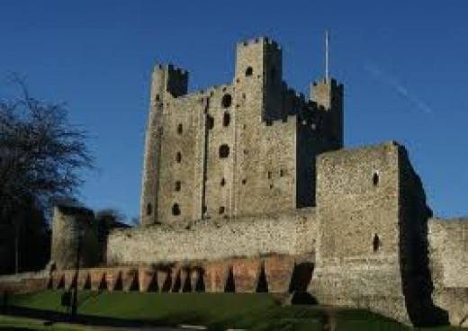 Home from home - Rochester Castle, 'across the road' from...