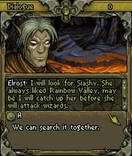 Elrost: he is led by duty and love, his duty to Thialin and his love for Siashy.
